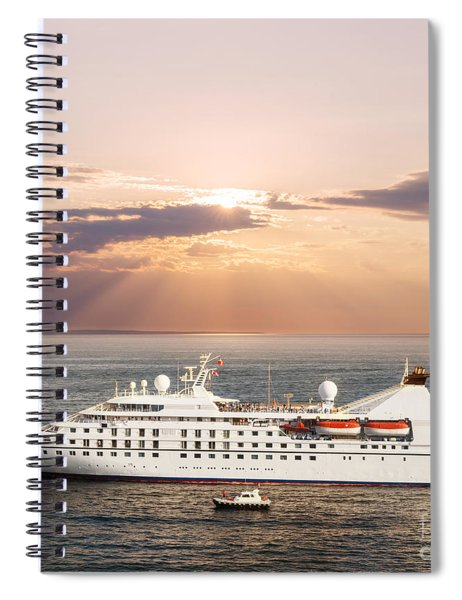 Small Luxury Cruise Ship Spiral Notebook