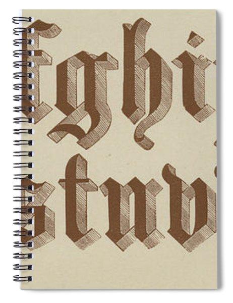 Small Old English Riband  Spiral Notebook