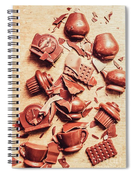 Smashing Chocolate Fondue Party Spiral Notebook