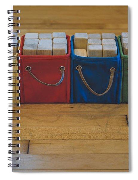 Smiling Block Bins Spiral Notebook
