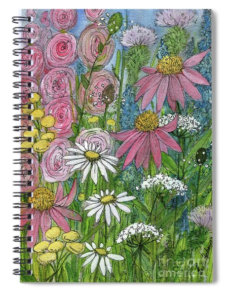 Smiling Flowers Spiral Notebook