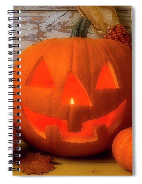 Smiling Jack O Latern Spiral Notebook