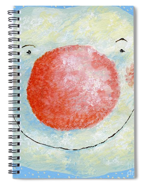 Smiling Snowman  Spiral Notebook
