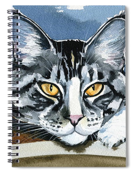 Smilla - Maine Coon Cat Painting Spiral Notebook