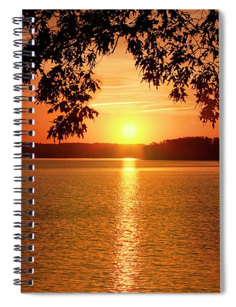 Smith Mountain Lake Silhouette Sunset Spiral Notebook