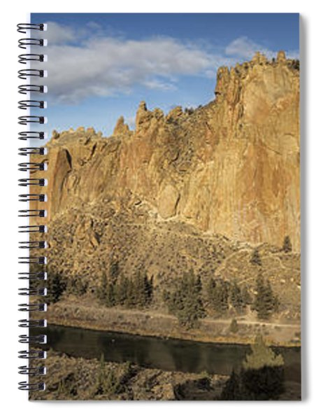 Smith Rock And Crooked River Panorama Spiral Notebook