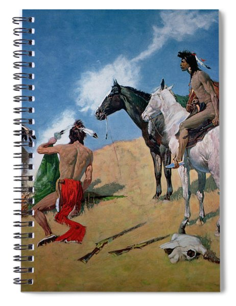 Smoke Signals Spiral Notebook by Frederic Remington