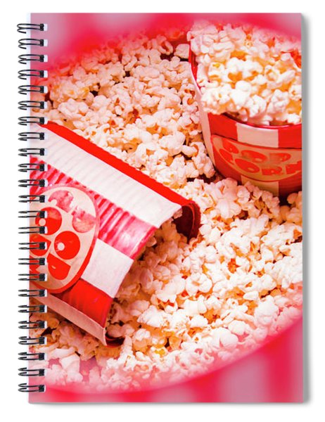 Snack Bar Pop Corn Spiral Notebook