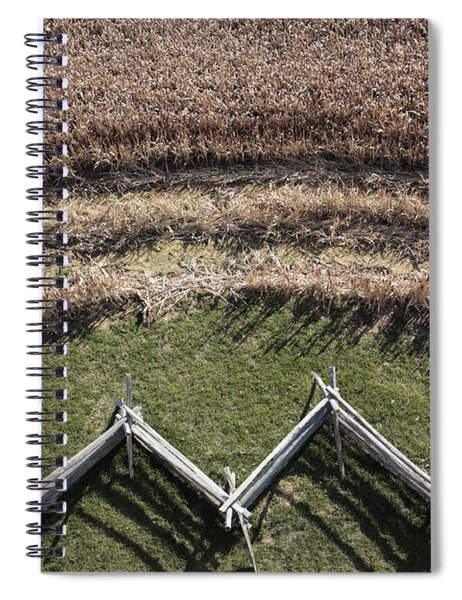 Snake-rail Fence And Cornfield Spiral Notebook