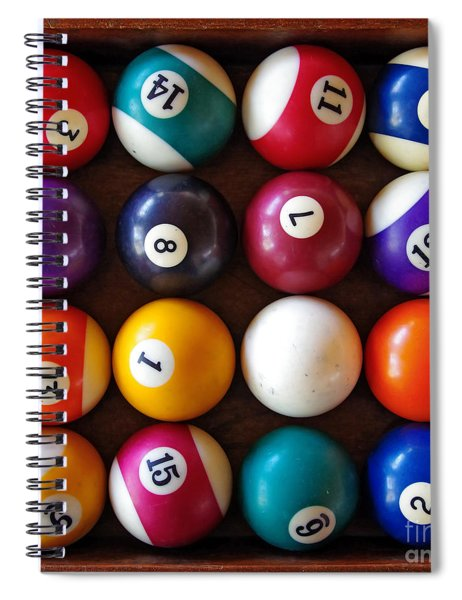 Snooker Balls Spiral Notebook