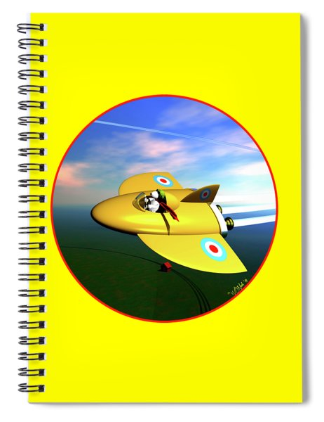 Snoopy The Flying Ace Spiral Notebook