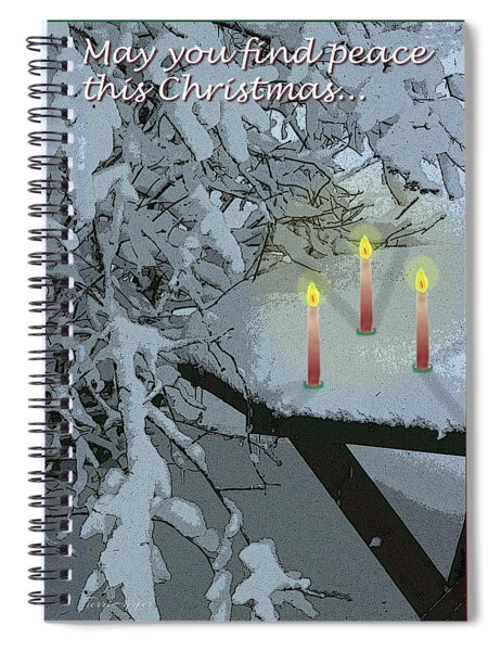 Snow And Candlelight Spiral Notebook