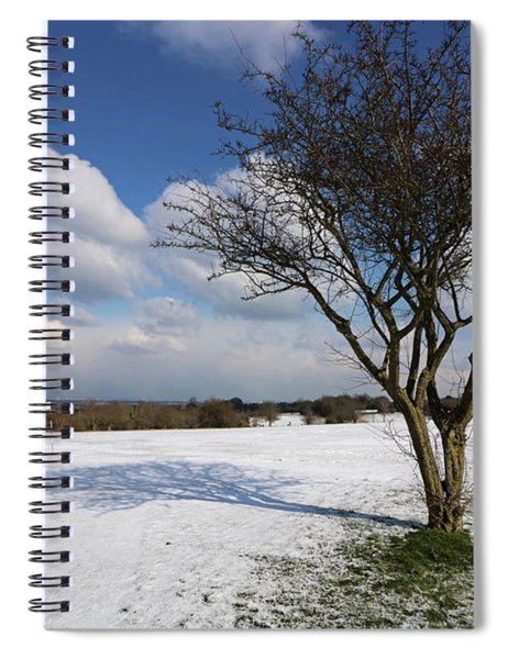Snow And Sunshine On Epsom Downs Surrey 1 Spiral Notebook