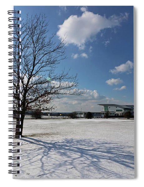 Snow And Sunshine On Epsom Downs Surrey 2 Spiral Notebook