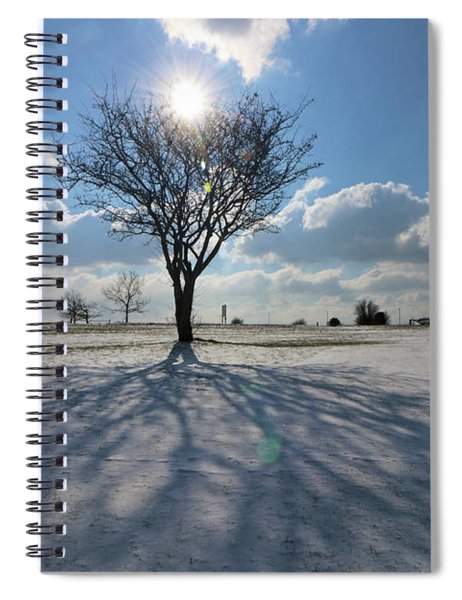 Snow And Sunshine On Epsom Downs Surrey 3 Spiral Notebook