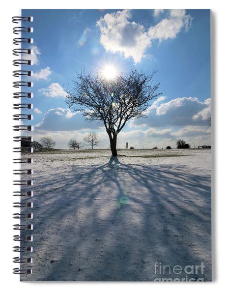 Snow And Sunshine On Epsom Downs Surrey 4 Spiral Notebook