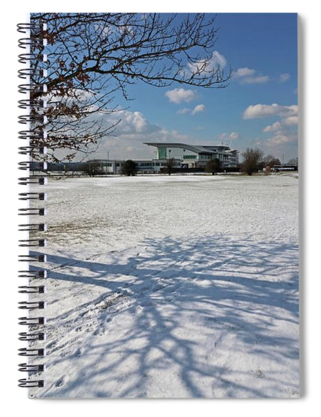 Snow And Sunshine On Epsom Downs Surrey 5 Spiral Notebook