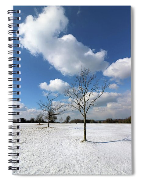 Snow And Sunshine On Epsom Downs Surrey 6 Spiral Notebook