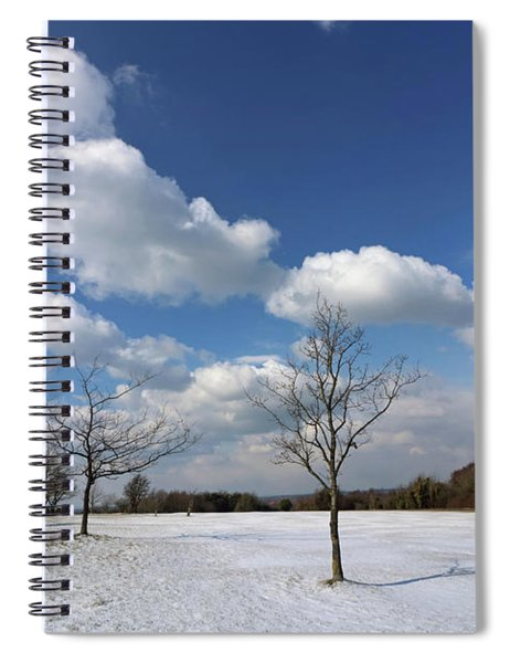 Snow And Sunshine On Epsom Downs Surrey 7 Spiral Notebook