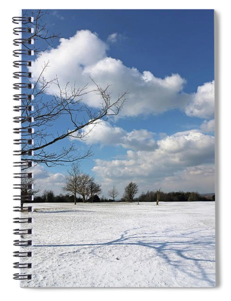 Snow And Sunshine On Epsom Downs Surrey 8 Spiral Notebook