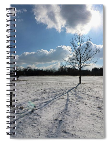 Snow And Sunshine On Epsom Downs Surrey 9 Spiral Notebook