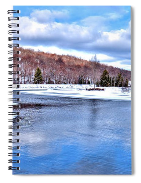 Snow At The River Spiral Notebook