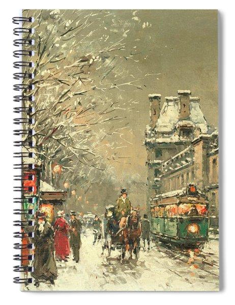 Snow At Twilight Spiral Notebook