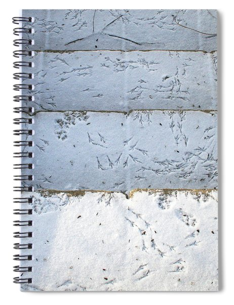Snow Bird Tracks Spiral Notebook