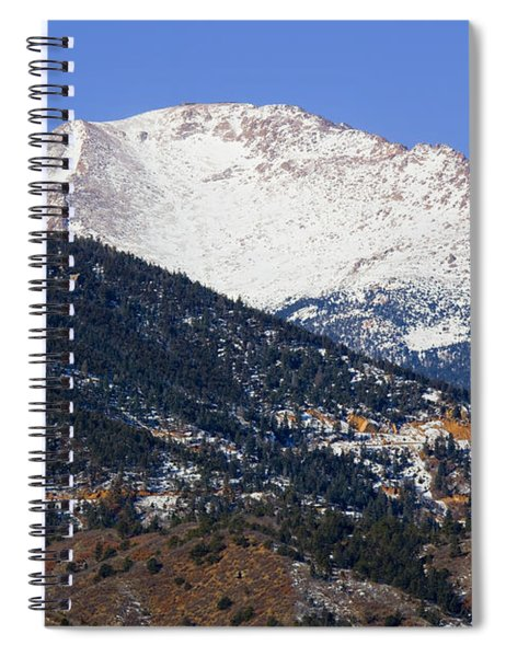 Snow Capped Pikes Peak In Winter Spiral Notebook