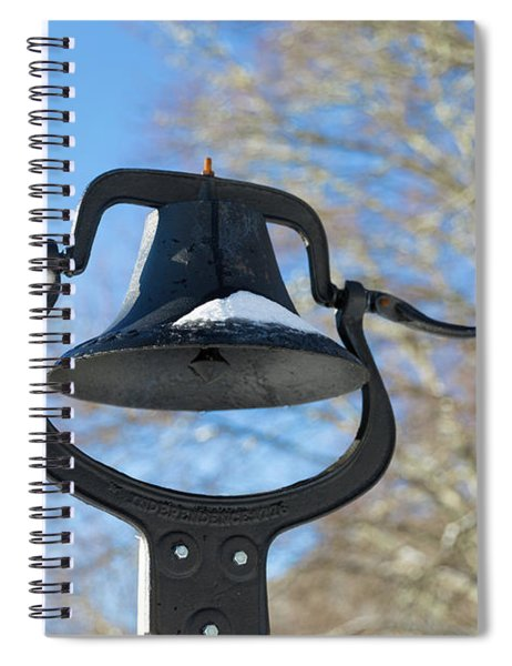 Snow Covered Bell Spiral Notebook