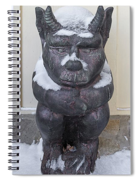 Snow Covered Chimera Spiral Notebook