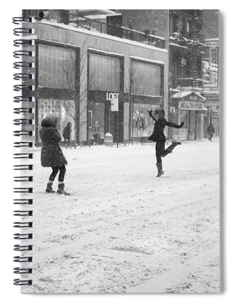 Snow Dance - Le - 10 X 16 Spiral Notebook