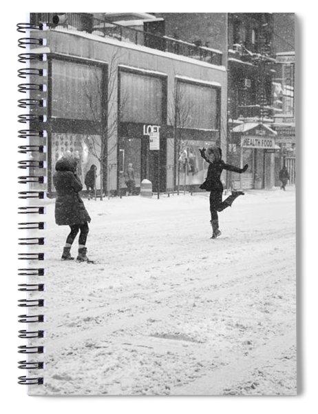 Snow Dance - Le - 10 X 16 Spiral Notebook