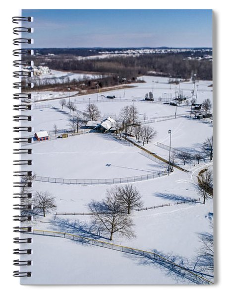 Snow Diamonds Spiral Notebook