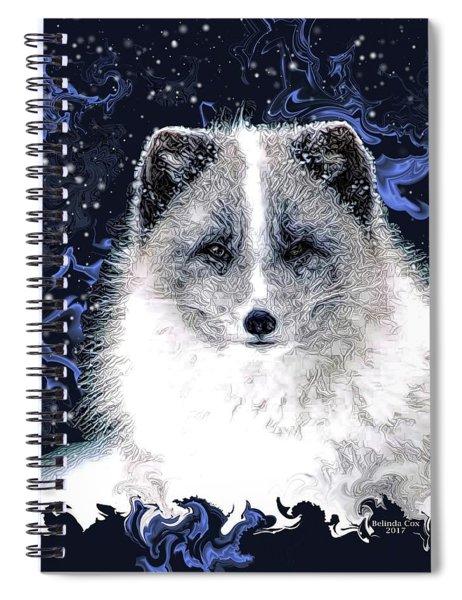 Snow Fox Spiral Notebook