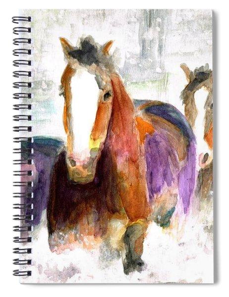 Snow Horses Spiral Notebook