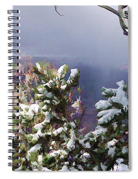 Snow In The Canyon Spiral Notebook