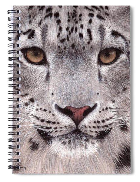 Snow Leopard Face Spiral Notebook