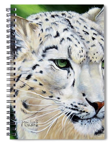 Snow Leopard Portrait Spiral Notebook