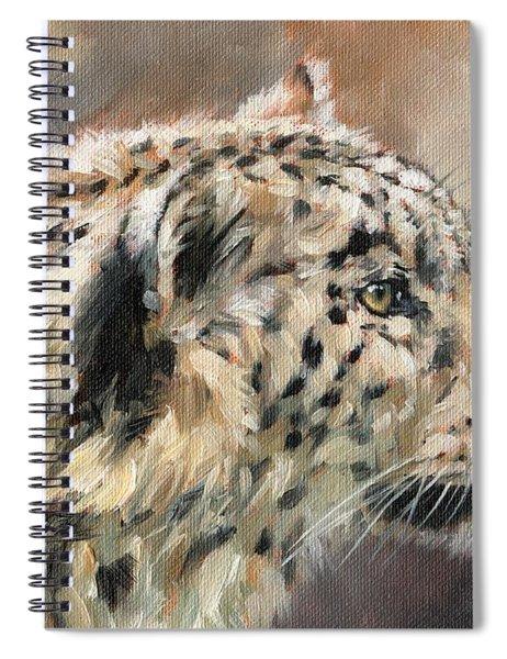 Snow Leopard Study Spiral Notebook