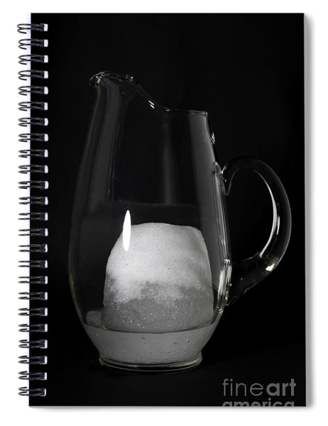 Snow Melting 4 Of 8 Spiral Notebook