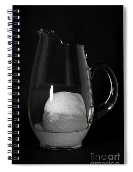 Snow Melting 5 Of 8 Spiral Notebook