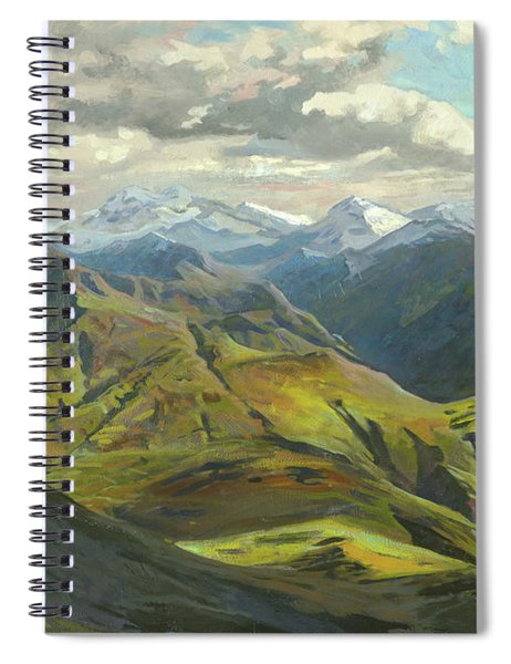Snow Mountains  Spiral Notebook