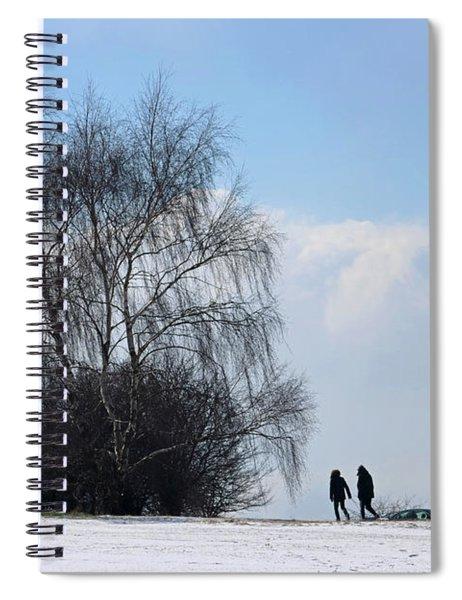 Snow On Epsom Downs Surrey 1 Spiral Notebook