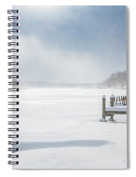 Snow On Lake Charlevoix Spiral Notebook