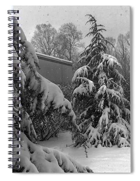 Snow On Pines Spiral Notebook