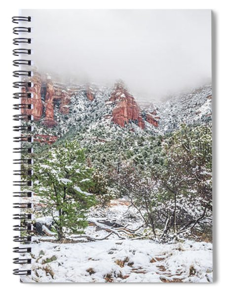 Snow On Red Rock Spiral Notebook