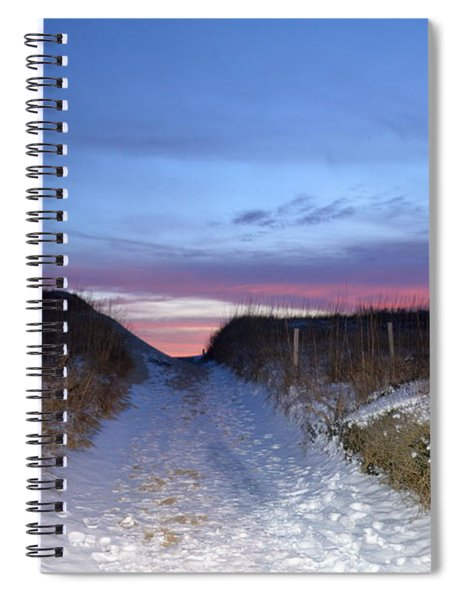 Snow On The Dunes Spiral Notebook