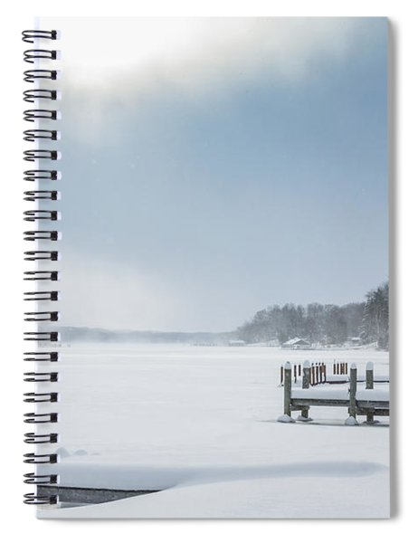 Snow On The Lake Spiral Notebook