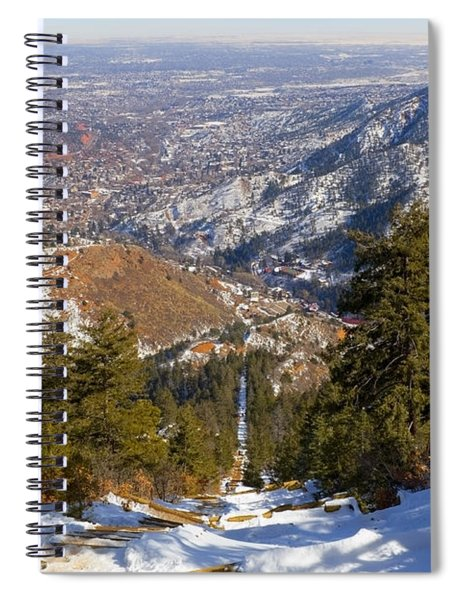 Snow On The Manitou Incline In Wintertime Spiral Notebook